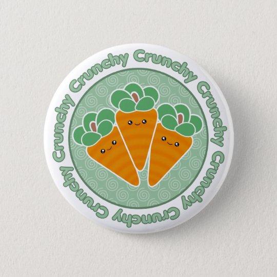 Kawaii Crunchy Carrots Button Badge