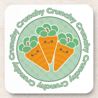 Kawaii Crunchy Carrots Cork Coaster