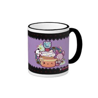 Kawaii Cupcake Attacked! Ringer Mug