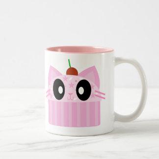 kawaii cupcake cat mugs