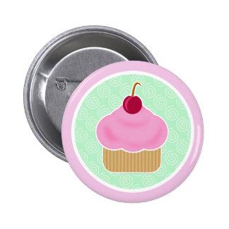 Kawaii Cupcake Cherry 6 Cm Round Badge