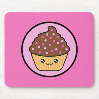 Kawaii Cupcake Chocolate Frosting Mouse Pad