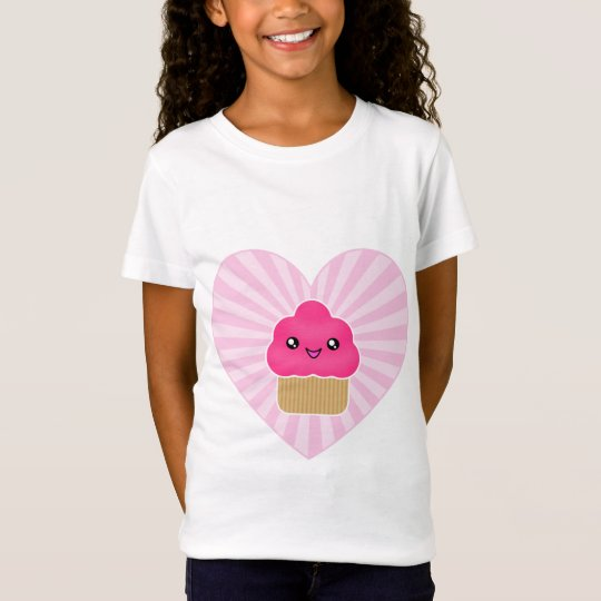 Kawaii Cupcake Heart Apparel T-Shirt