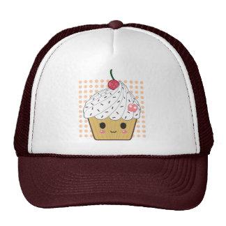 Kawaii Cupcake in Polka Dots Cap