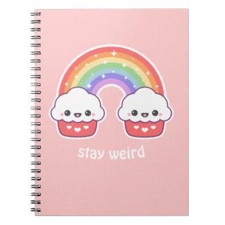 Kawaii Cupcake Rainbow Notebooks