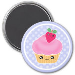 Kawaii Cupcake Strawberry Magnet