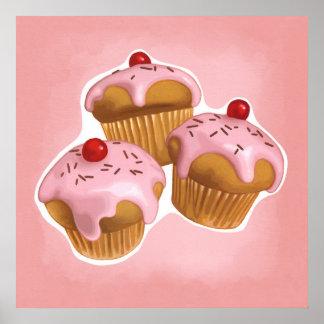 Kawaii cupcakes print