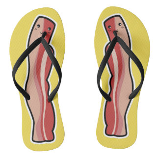 Kawaii Cute Bacon Flip Flops
