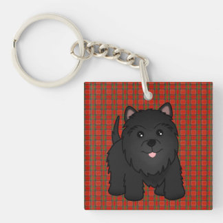 Kawaii Cute Black Scottish Terrier Puppy Dog Key Ring