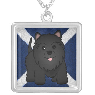 Kawaii Cute Black Scottish Terrier Puppy Dog Necklaces