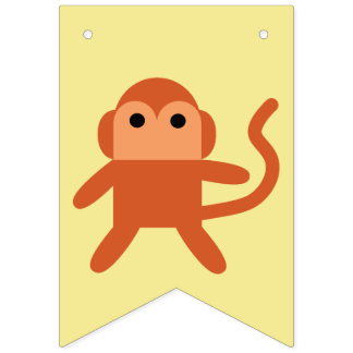 Kawaii Cute Cheeky Monkey Bunting
