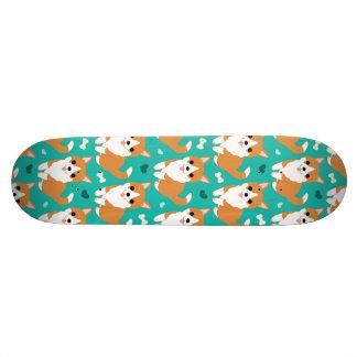 Kawaii Cute Corgi dog simple illustration pattern 21.6 Cm Old School Skateboard Deck