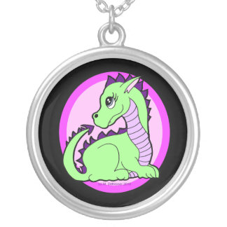 Kawaii Cute Dragon Silver Plated Necklace