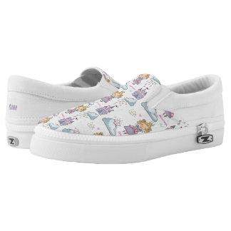 Kawaii Cute Fairy Tale Princess Castle. Slip On Shoes