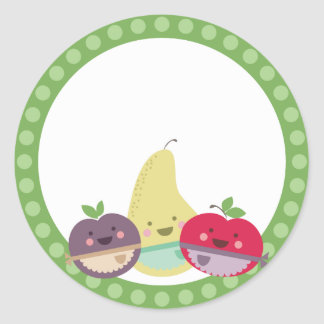 kawaii cute fruit baking bakery gift tag stickers