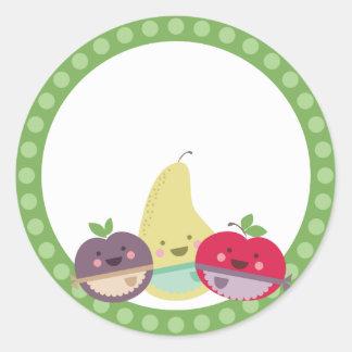 kawaii cute fruit baking bakery gift tag stickers