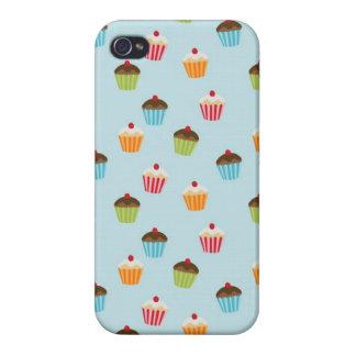 Kawaii cute girly cupcake cupcakes foodie pattern iPhone 4 covers
