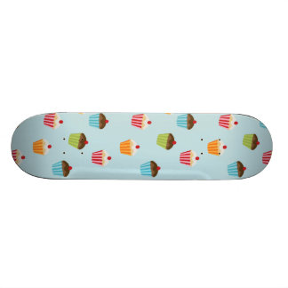 Kawaii cute girly cupcake cupcakes foodie pattern skateboard deck