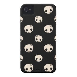 Kawaii cute goth girly skull emo skulls pattern iPhone 4 Case-Mate case