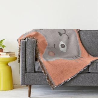 Kawaii Cute Happy Little Kitty Kitten Cat. Throw Blanket