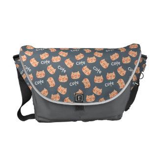 Kawaii Cute Happy Little Piggy. Commuter Bag