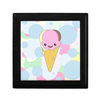 Kawaii Cute Ice Cream Cone Cartoon Neapolitan Gift Box