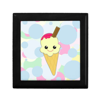 Kawaii Cute Ice Cream Cone Cartoon Vanilla Gift Box