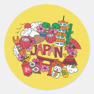 Kawaii Cute Japan! Classic Round Sticker
