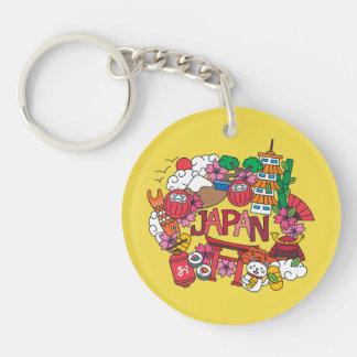 Kawaii Cute Japan! Double-Sided Round Acrylic Key Ring