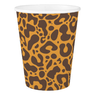 Kawaii Cute Leopard Pattern. Paper Cup