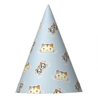Kawaii Cute Little Kitty Kitten Cats. Party Hat