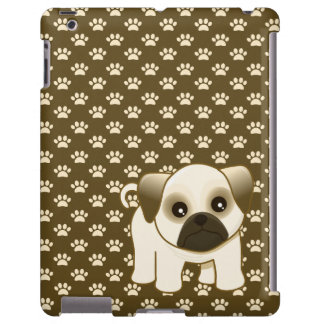 Kawaii Cute Little Pug Puppy Dog Cartoon Animal iPad Case
