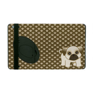 Kawaii Cute Little Pug Puppy Dog Cartoon Animal iPad Cover