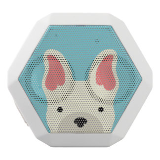 Kawaii Cute Little Puppy Dog. White Bluetooth Speaker