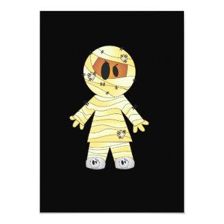 Kawaii Cute Mummy Halloween Card