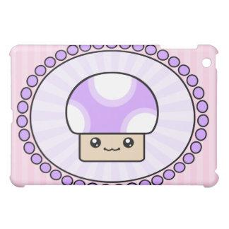 Kawaii Cute Mushy Puff Purple Case For The iPad Mini