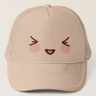 Kawaii Cute Naughty Face Trucker Hat