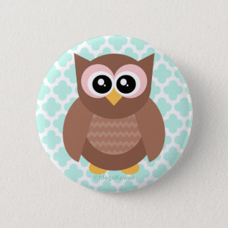 Kawaii Cute Owl Button