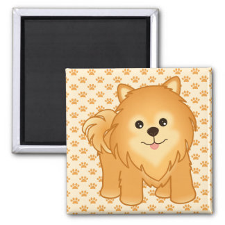 Kawaii Cute Pomeranian Puppy Dog Cartoon Animal Magnet