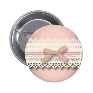 kawaii cute princess pink bow lace girly 6 cm round badge