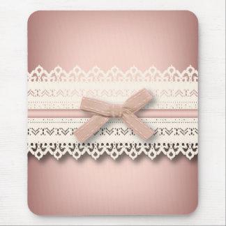 kawaii cute princess pink bow lace girly mouse pad