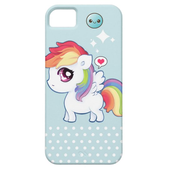 Kawaii cute rainbow pony iPhone 5 case