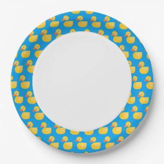 Kawaii Cute Rubber Ducky Paper Plate