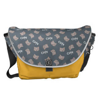 Kawaii Cute Sad Little Kitty Kitten Cat. Commuter Bag