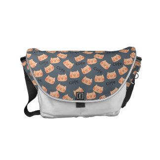 Kawaii Cute Sad Little Piggy. Commuter Bag