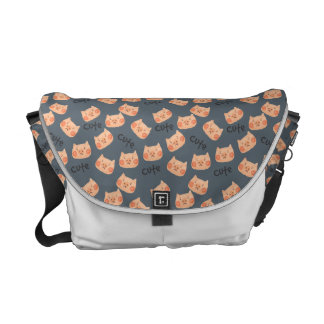 Kawaii Cute Sad Little Piggy. Courier Bag