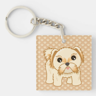 Kawaii Cute Shih Tzu Puppy Dog Cartoon Animal Key Ring