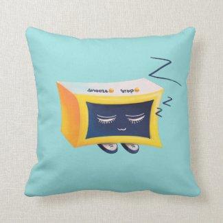 Kawaii Cute Sleeping Alarm Clock Character Cushion