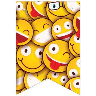 Kawaii Cute Smiley Emoji Emoticon. Bunting