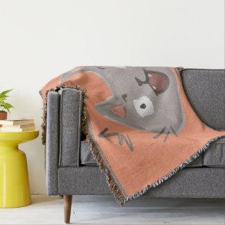 Kawaii Cute Surprised Little Kitty Kitten Cat. Throw Blanket